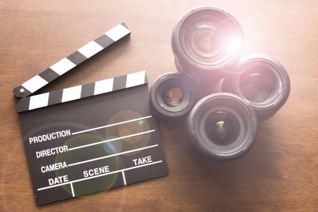映画の道具とカメラ