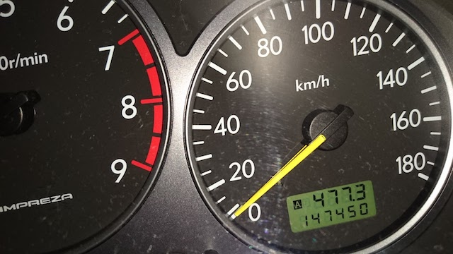 インプレッサのスピードメーター