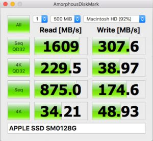 MacBook-AirをSSDのスピード
